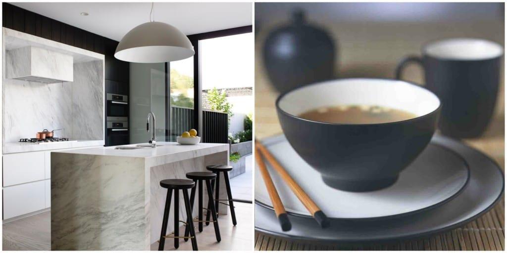 Interior Design by Mim Design. Dinnerware by Noritake.