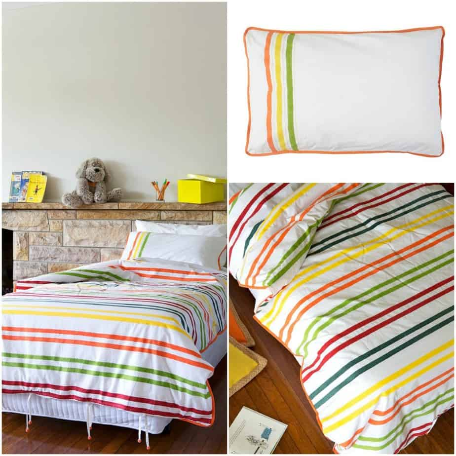 Tarsha Burn striped bedlinen