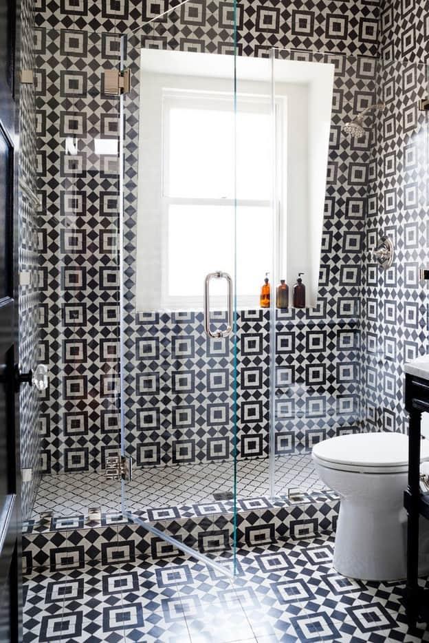 dramatic bathroom
