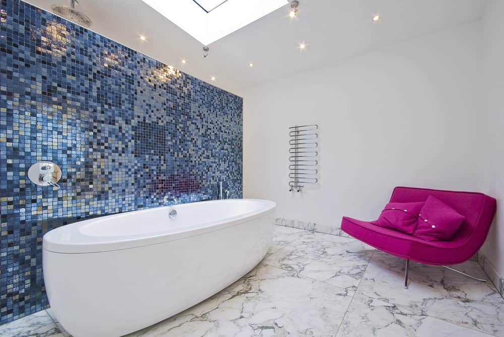 dramatic bathroom