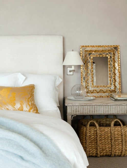 gold and white interiors